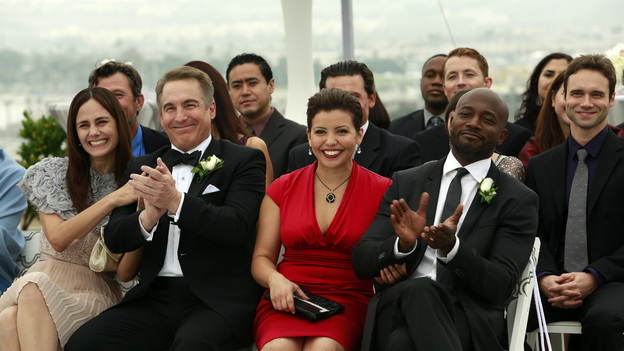 "PRIVATE PRACTICE - ""In Which We Say Goodbye"" - ABC's hit drama ""Private Practice"" will end its run with a special farewell to the beloved doctors of Seaside Health and Wellness. Naomi returns to stand by Addison's side on her wedding day, Cooper struggles with the hardships of being a stay-at-home father, and Violet begins a new project close to her heart, on the Series Finale of ""Private Practice,"" TUESDAY, JANUARY 22 (10:00-11:00 p.m., ET) on the ABC Television Network. (ABC/RON TOM)DIANE FARR, BRIAN BENBEN, JUSTINA MACHADO, TAYE DIGGS"