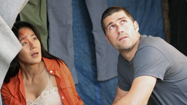 "LOST - ""The Long Con"" - (ABC/MARIO PEREZ)YUNJIN KIM, MATTHEW FOX, DANIEL DAE KIM"