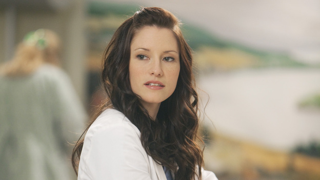 GREY'S ANATOMY - &quot;Unaccompanied Minor&quot; - News of Meredith's dishonesty in the clinical trial comes to light, leading to unanticipated consequences for both her and others. Cristina finds herself in a compromising situation, which forces her to decide between her career and her relationship. Meanwhile, Owen posts his decision for chief resident and Teddy makes a surprising choice regarding her love life -- and her future -- on the Season Finale of Grey's Anatomy, THURSDAY, MAY 19 (9:00-10:01 p.m., ET) on the ABC Television Network. (ABC/RANDY HOLMES)CHYLER LEIGH