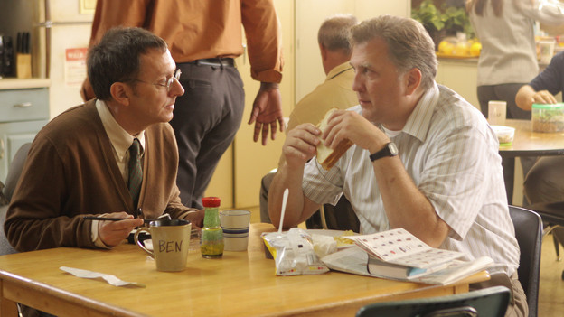 "LOST - ""Dr. Linus"" - Ben deals with the consequences of an uncovered lie, on ""Lost,"" TUESDAY, MARCH 9 (9:00-10:00 p.m., ET) on the ABC Television Network. (ABC/MARIO PEREZ)MICHAEL EMERSON, DANIEL ROEBUCK"
