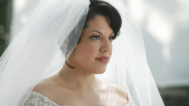 "GREY'S ANATOMY - ""White Wedding"" - As Callie and Arizona's wedding approaches, the couple quickly realize that the day they've been looking forward to is not turning out the way they'd envisioned. Meanwhile Alex continues to make the other residents jealous as he appears to be the top contender for Chief Resident, Meredith and Derek make a decision that will change their lives forever, and Dr. Perkins presents Teddy with a very tempting proposition, on Grey's Anatomy,"" THURSDAY, MAY 5 (9:00-10:01 p.m., ET) on the ABC Television Network. (ABC/RICHARD CARTWRIGHT)SARA RAMIREZ"