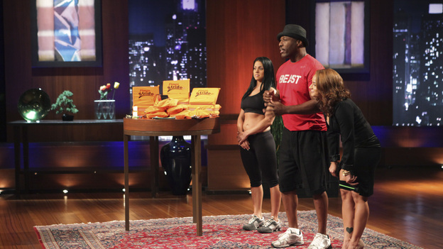 "SHARK TANK - ""Episode 206"" -- For the first time, there will be children seeking a business investment from the Sharks for an idea they came up with while on a family road trip. Also in this episode, a stay-at-home mom who taught herself carpentry and started a furniture business has the Sharks fighting for a piece of it; an entrepreneur brings an innovative secret formula to the Tank; and a personal trainer believes he has the next hot trend in fitness equipment.  In addition, there'll be a follow-up with Grill Charms' owner, Leslie Haywood, to see what making a deal with Robert Herjavec has done for her barbeque accessory, on ""Shark Tank,"" FRIDAY, APRIL 1 (8:00-9:00 p.m., ET) on the ABC Television Network. (ABC/ADAM TAYLOR)STACY ERWIN (FITNESS STRIDE)"