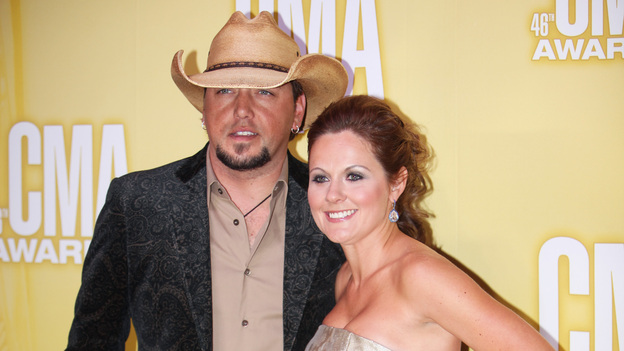 THE 46TH ANNUAL CMA AWARDS - RED CARPET ARRIVALS - &quot;The 46th Annual CMA Awards&quot; airs live THURSDAY, NOVEMBER 1 (8:00-11:00 p.m., ET) on ABC live from the Bridgestone Arena in Nashville, Tennessee. (ABC/SARA KAUSS)JASON ALDEAN
