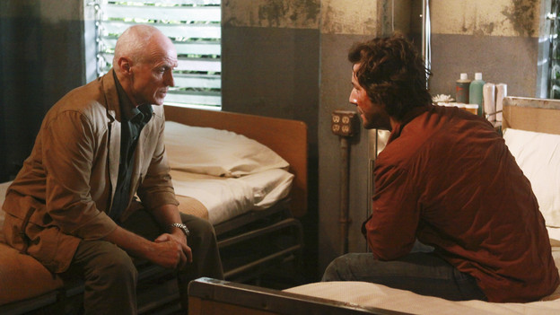 "LOST - ""Happily Ever After"" - Desmond wakes up to discover he's back on the island, on ""Lost,"" TUESDAY, APRIL 6 (9:00-10:02 p.m., ET) on the ABC Television Network. (ABC/MARIO PEREZ)ALAN DALE, HENRY IAN CUSICK"
