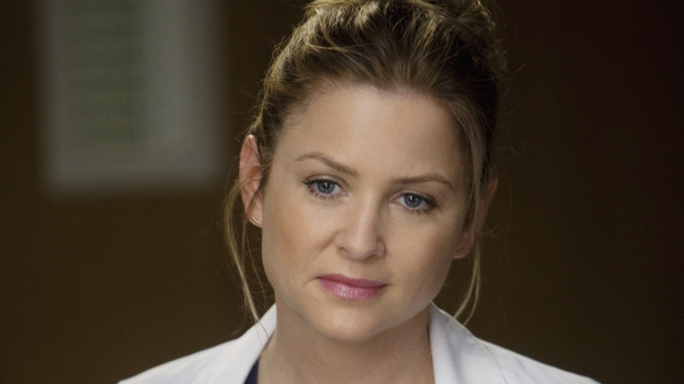 "GREY'S ANATOMY - ""Don't Deceive Me (Please Don't Go)"" - Derek breaks ground on his Alzheimer's clinical trial and Meredith can't help but feel left out; Bailey's attempt to take the hospital into the age of new media with live tweets from the OR does not go over well with the Chief; and Callie, Mark and Arizona must learn to navigate through the pregnancy together, which starts off with Callie driving her new obstetrician (guest star Rachael Taylor) crazy, on ""Grey's Anatomy,"" THURSDAY, FEBRUARY 3 (9:00-10:01 p.m., ET) on the ABC Television Network. (ABC/RANDY HOLMES)JESSICA CAPSHAW"