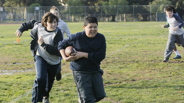 manny playing football