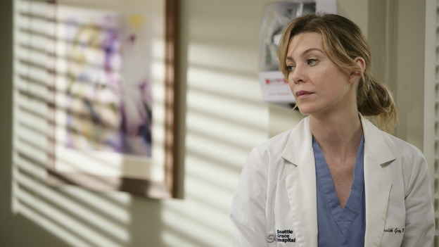 "GREY'S ANATOMY - ""Losing My Mind"" - Dr. Wyatt refuses to let Meredith give up on therapy, Alex learns the truth about Rebecca's medical condition, the Chief insists that Erica perform a risky surgery on his mentor, and after receiving news of Burke, Cristina continues to do things contrary to her nature, going so far as cleaning her always-messy apartment, on ""Grey's Anatomy,"" THURSDAY, MAY 15 (9:00-10:02 p.m., ET) on the ABC Television Network. (ABC/MITCH HADDAD)ELLEN POMPEO"