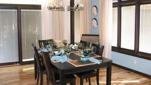 "EXTREME MAKEOVER HOME EDITION - ""Bliven Family,"" - Dining Room, on ""Extreme Makeover Home Edition,"" Sunday, October 15th on the ABC Television Network."