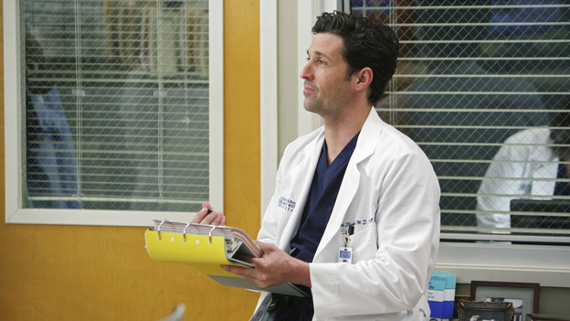 GREY'S ANATOMY - &quot;Blink&quot;- Mark flies Addison to Seattle to help with a difficult procedure on his pregnant daughter, Sloan, Owen questions Teddy's motives when she assigns Cristina the lead on a complicated surgery, and Derek's suspicions are raised when the Chief recruits Meredith to assist with a high profile operation on, &quot;Grey's Anatomy,&quot; THURSDAY, JANUARY 14 (9:00-10:01 p.m., ET) on the ABC Television Network. (ABC/ADAM TAYLOR)PATRICK DEMPSEY