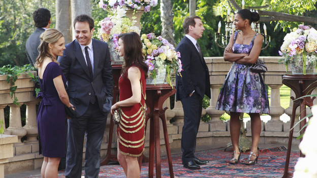 "PRIVATE PRACTICE - ""Heaven Can Wait"" - Addison plans Bizzy and Susan's wedding while trying to keep her distance from the overly flirtatious Dr. Rodriquez. Sam is concerned about the care his longtime patient is receiving, and Sheldon refers Charlotte to his mentor and friend for psychiatric help, on ""Private Practice,"" THURSDAY, JANUARY 13 (10:01-11:00 p.m., ET) on the ABC Television Network. (ABC/RON TOM) KADEE STRICKLAND, PAUL ADELSTEIN, CATERINA SCORSONE, BRIAN BENBEN, AUDRA MCDONALD"