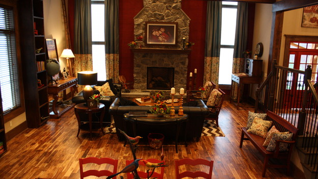 EXTREME MAKEOVER HOME EDITION - &quot;Creasey Family,&quot; - Living Room, on &quot;Extreme Makeover Home Edition,&quot; Sunday, January 31st on the ABC Television Network.