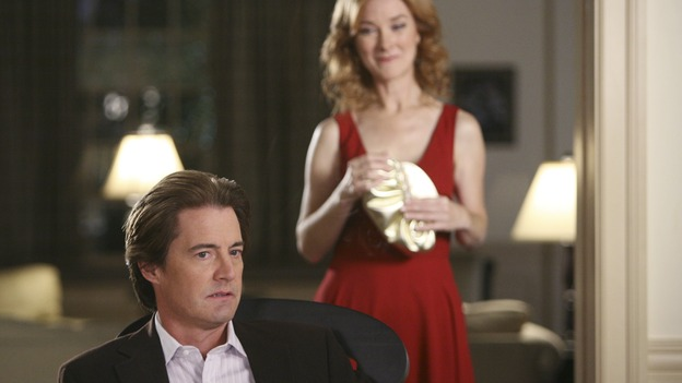 "DESPERATE HOUSEWIVES - ""No Fits, No Fights, No Feuds"" - Alma Hodge returns, much to Orson's chagrin, on ""Desperate Housewives,"" SUNDAY, JANUARY 7 (9:00-10:01 p.m., ET) on the ABC Television Network. (ABC/DANNY FELD) KYLE MACLACHLAN, VALERIE MAHAFFEY"