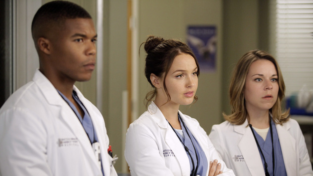 GREY'S ANATOMY - &quot;Beautiful Doom&quot; - In this Meredith &amp; Cristina-centric episode, the two friends continue to cope with life after the plane crash and their ever-growing responsibilities at their respective hospitals. As Meredith juggles taking care of Zola with a case that hits close to home, Cristina assists Dr. Thomas on a challenging heart surgery, on &quot;Grey's Anatomy,&quot; THURSDAY, NOVEMBER 8 (9:00-10:02 p.m., ET) on the ABC Television Network. (ABC/KELSEY MCNEAL)GAIUS CHARLES, CAMILLA LUDDINGTON, TINA MAJORINO