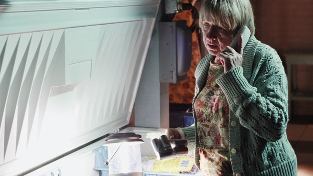"DESPERATE HOUSEWIVES - ""God, That's Good"" - Mrs. McCluskey checks on her dead husband, on ""Desperate Housewives,"" SUNDAY, APRIL 22 (9:00-10:01 p.m., ET) on the ABC Television Network. (ABC/RON TOM) KATHRYN JOOSTEN"