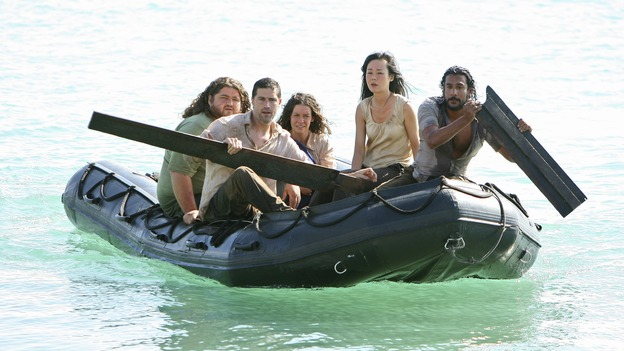 "LOST - ""There's No Place Like Home,"" Parts 2 & 3 - The face-off between the survivors and the freighter people continues, and the Oceanic Six find themselves closer to rescue, on the two-hour Season Finale of ""Lost,"" THURSDAY, MAY 29 (9:00-11:00 p.m., ET) on the ABC Television Network. (ABC/MARIO PEREZ)JORGE GARCIA, MATTHEW FOX, EVANGELINE LILLY, YUNJIN KIM, NAVEEN ANDREWS"