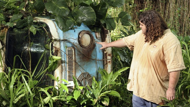 "LOST - ""Tricia Tanaka Is Dead"" - Hurley's discovery of an old, wrecked car on the island leads him on a mission of hope not only for himself, but for a fellow survivor in need of some faith. Meanwhile, Kate and Sawyer reunite with their fellow castaways, but Kate is still torn about leaving Jack behind with ""The Others,"" on ""Lost,"" WEDNESDAY, FEBRUARY 28 (10:00-10:00 p.m., ET), on the ABC Television Network. (ABC/MARIO PEREZ)JORGE GARCIA"