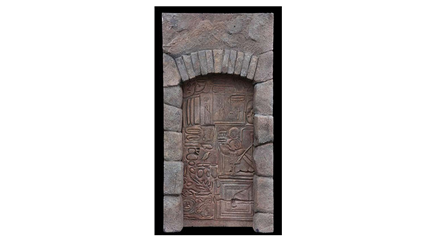 "Ben's secret door/wall with hieroglyphicsUnknown to the Survivors, Ben has a secret room inside his house at the Barracks. Accessed through a false wall in a hidden closet, its door and wallsare covered with hieroglyphs. It is believed that this is where he is able to summon the Smoke Monster.Seen in the episode, ""Dead Is Dead,"" the door measures approx. 71 in. x 48 in. and the wall framing thedoor measures approx. 97 in. x 49 in. Constructed of rigid polyfoam painted to resemble ancient stone.Related content:EPISODE RECAP - ""The Shape of Things to Come""EPISODE RECAP - ""Dead Is Dead""EPISODE RECAP - ""What They Died For"""