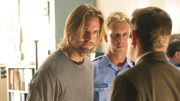 "LOST - ""Exodus"" - Sawyer, on ""Lost,"" on THURSDAY, MAY 18 on the ABC Television Network. (ABC/MARIO PEREZ) JOSH HOLLOWAY"
