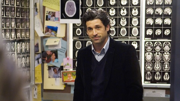GREY'S ANATOMY - &quot;Elevator Love Letter&quot; - Derek prepares to propose to Meredith, on &quot;Grey's Anatomy,&quot; THURSDAY, MARCH 26 (9:00-10:02 p.m., ET) on the ABC Television Network. (ABC/RANDY HOLMES) PATRICK DEMPSEY