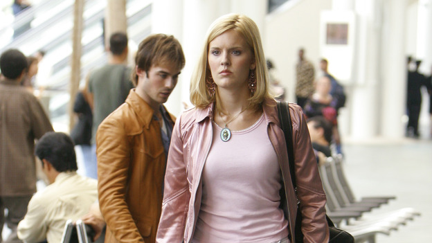 LOST - &quot;Exodus&quot; - Shannon and Boone at the airport, on &quot;Lost,&quot; on THURSDAY, MAY 18 on the ABC&nbsp;Television Network. (ABC/MARIO PEREZ) IAN SOMERHALDER, MAGGIE GRACE
