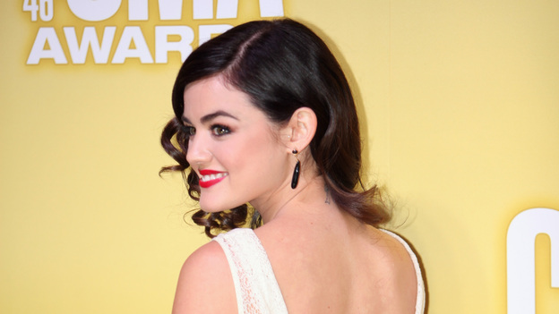 "THE 46TH ANNUAL CMA AWARDS - RED CARPET ARRIVALS - ""The 46th Annual CMA Awards"" airs live THURSDAY, NOVEMBER 1 (8:00-11:00 p.m., ET) on ABC live from the Bridgestone Arena in Nashville, Tennessee. (ABC/SARA KAUSS)LUCY HALE"