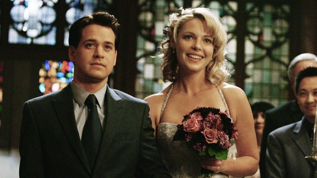 "GREY'S ANATOMY - ""What a Difference a Day Makes"" - George helps his best friend, Izzie, down the aisle for her wedding to Alex, on ""Grey's Anatomy,"" THURSDAY, MAY 7 (9:00-10:02 p.m., ET) on the ABC Television Network. T.R. KNIGHT, KATHERINE HEIGL"