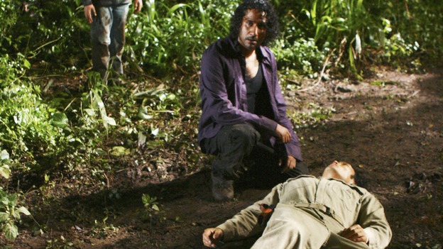 "LOST - ""He's Our You"" - Things begin to unravel when one of the survivors goes rogue and takes matters into their own hands -- risking the lives of everyone on the island -- on ""Lost,"" WEDNESDAY, MARCH 25 (9:00-10:02 p.m., ET) on the ABC Television Network.  (ABC/MARIO PEREZ)STERLING BEAUMON, NAVEEN ANDREWS, DANIEL DAE KIM"
