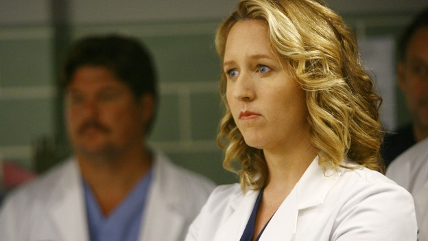 GREY'S ANATOMY - &quot;Dream a Little Dream of Me&quot; - Dr. Erica Hahn, on &quot;Grey's Anatomy,&quot; THURSDAY, SEPTEMBER 25 (9:00-11:00 p.m., ET) on the ABC Television Network. (ABC/SCOTT GARFIELD) BROOKE SMITH