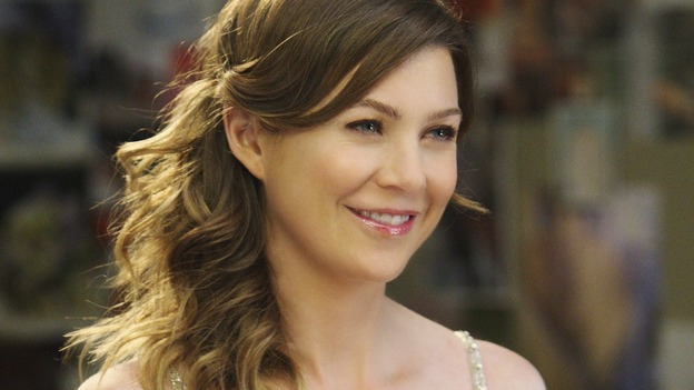 "GREY'S ANATOMY - ""Sweet Surrender"" - Meredith tries on wedding dresses for Izzie, on ""Grey's Anatomy,"" THURSDAY, APRIL 23 (9:00-10:02 p.m., ET) on the ABC Television Network. (ABC/CRAIG SJODIN) ELLEN POMPEO"