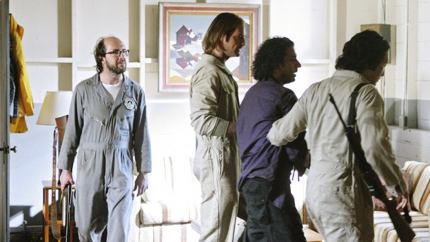 "LOST - ""Namaste"" - When some old friends drop in unannounced, Sawyer is forced to further perpetuate his lie in order to protect them, on ""Lost,"" WEDNESDAY, MARCH 18 (9:00-10:02 p.m., ET) on the ABC Television Network. (ABC/MARIO PEREZ)ERIC LANGE, JOSH HOLLOWAY, NAVEEN ANDREWS, DANIEL DAE KIM"