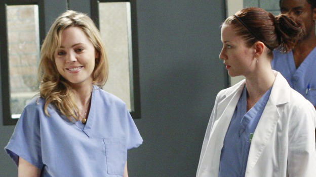 GREY'S ANATOMY - &quot;These Ties That Bind&quot; - Sadie pushes the Interns to go even further with their practicing, on &quot;Grey's Anatomy,&quot; THURSDAY, NOVEMBER 13 (9:00-10:01 p.m., ET) on the ABC Television Network. (ABC/RON TOM) MELISSA GEORGE, CHYLER LEIGH, BRANDON SCOTT
