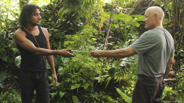 "LOST - ""Sundown"" - Sayid is faced with a difficult decision, and Claire sends a warning to the temple inhabitants, on ""Lost,"" TUESDAY, MARCH 2 (9:00-10:00 p.m., ET) on the ABC Television Network. (ABC/MARIO PEREZ)NAVEEN ANDREWS, TERRY O'QUINN"