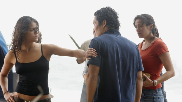 "LOST - ""The Long Con"" - (ABC/MARIO PEREZ)MICHELLE RODRIGUEZ, DANIEL DAE KIM"