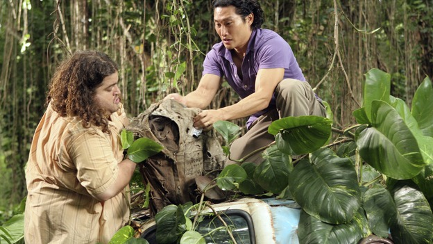 "LOST - ""Tricia Tanaka Is Dead"" - Hurley's discovery of an old, wrecked car on the island leads him on a mission of hope not only for himself, but for a fellow survivor in need of some faith. Meanwhile, Kate and Sawyer reunite with their fellow castaways, but Kate is still torn about leaving Jack behind with ""The Others,"" on ""Lost,"" WEDNESDAY, FEBRUARY 28 (10:00-10:00 p.m., ET), on the ABC Television Network. (ABC/MARIO PEREZ)JORGE GARCIA, DANIEL DAE KIM"