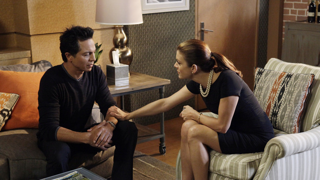"PRIVATE PRACTICE - ""It Was Inevitable"" - As Erica's medical condition rapidly worsens, Cooper and Charlotte do their best to prepare an in-denial Mason; Violet and Pete, both single again, find they still have feelings for each other; Addison encourages Amelia to embrace impending motherhood;, and Sheldon and Jake work with a devastating case in which a woman, jailed for killing her two children, is pregnant with a third, on Private Practice, THURSDAY, MARCH 22 (10:02-11:00 p.m., ET) on the ABC Television Network. (ABC/KELSEY MCNEAL)BENJAMIN BRATT, KATE WALSH"