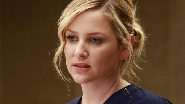 GREY'S ANATOMY - &quot;Transplant Wasteland&quot; - The discord and chaos created by the hospital's new management team causes one physician to question his future at Seattle Grace. Meanwhile, the doctors and the interns must juggle several transplant surgeries at once, each coming with its own set of obstacles, on &quot;Grey's Anatomy,&quot; THURSDAY, MARCH 14 (9:00-10:02 p.m., ET) on the ABC Television Network. (ABC/Ron Tom)JESSICA CAPSHAW