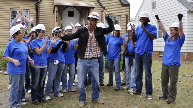 EXTREME MAKEOVER: HOME EDITION - &quot;Anderson Family&quot; - Andre and Jasmine Anderson have never allowed their visual impairment to slow them down, but rather have faced it head on, and established the Disability Awareness Center in Maple Heights, Ohio, to help others who are struggling with sight loss. The couple and their sons learned they would be recipients of a home makeover while aboard the public bus that they ride every day. The &quot;EM: HE&quot; team surprised them on the bus and revealed plans to give them a new &quot;smart&quot; home, equipped with technologies that support people with disabilities. This episode of &quot;Extreme Makeover: Home Edition&quot; airs SUNDAY, DECEMBER 5 (8:00-9:00 p.m., ET) on the ABC Television Network. (ABC/MIKE CROUCH)TY PENNINGTON