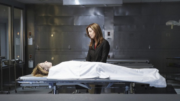 BODY OF PROOF - Dr. Megan Hunt (Dana Delany) was in a class of her own, a brilliant neurosurgeon at the top of her game. But her world is turned upside down when a devastating car accident puts an end to her time in the operating room. Megan resumes her career as a medical examiner, determined to solve the puzzle of who or what killed the victims.