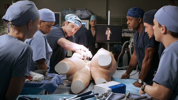 GREY'S ANATOMY - &quot;Don't Stand So Close to Me&quot; - Recent events strain Burke and Cristina's relationship, Meredith's half-sister, Molly, is admitted to the hospital, and Mark and Derek must work together when two close-knit brothers seek medical help, on &quot;Grey's Anatomy,&quot; THURSDAY, NOVEMBER 30 (9:00-10:01 p.m., ET) on the ABC Television Network. (ABC/VIVIAN ZINK)KATHERINE HEIGL, CHANDRA WILSON, PATRICK DEMPSEY, JAMES PICKENS, JR., ERIC DANE, T.R. KNIGHT
