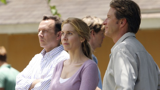 "LOST - ""Lost"" - awarded the 2005 Emmy and 2006 Golden Globe for best drama series - is back for a third season of action-packed mystery and adventure that will continue to bring out the very best and the very worst in the people who are lost. In the season premiere episode, ""A Tale of Two Cities,"" Jack, Kate and Sawyer begin to discover what they are up against as prisoners of ""The Others."" The season premiere airs WEDNESDAY, OCTOBER 4 (9:00-10:01 p.m., ET), on the ABC Television Network. (ABC/MARIO PEREZ)MICHAEL EMERSON, ELIZABETH MITCHELL, BRETT CULLEN"