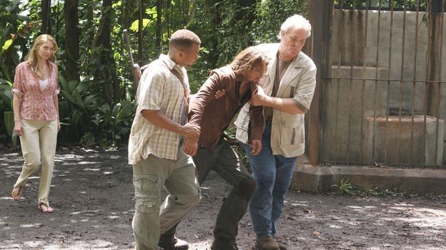 LOST -- &quot;Lost&quot; - awarded the 2005 Emmy and 2006 Golden Globe for best drama series - is back for a third season of action-packed mystery and adventure that will continue to bring out the very best and the very worst in the people who are lost. In the season premiere episode, &quot;A Tale of Two Cities,&quot; Jack, Kate and Sawyer begin to discover what they are up against as prisoners of &quot;The Others.&quot; The season premiere airs WEDNESDAY, OCTOBER 4 (9:00-10:01 p.m., ET), on the ABC Television Network. (ABC/MARIO PEREZ)ELIZABETH MITCHELL, EXTRA, JOSH HOLLOWAY, M.C. GAINEY