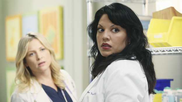 "GREY'S ANATOMY - ABC's ""Grey's Anatomy"" concludes the season with a two-hour shocker, THURSDAY, MAY 20. In the first hour, entitled ""Sanctuary"" (9:00-10:00 p.m., ET), Seattle Grace Hospital is hit with a crisis like no other in its history. Then, in the second hour, ""Death and All His Friends"" (10:00-11:00 p.m., ET), Cristina and Meredith's surgical skills are put to the ultimate test. (ABC/DANNY FELD)JESSICA CAPSHAW, SARA RAMIREZ"