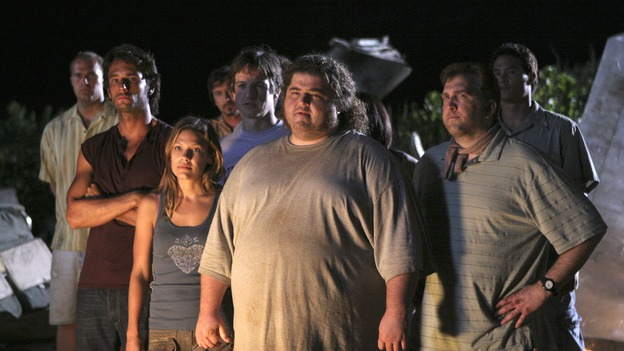 "LOST - ""Expos"" - Hurley begins to suspect that Sawyer may be involved in an island mystery surrounding two fellow survivors, and Sun learns the truth about her past kidnapping attempt by ""The Others,"" on ""Lost,"" WEDNESDAY, MARCH 28 (10:00-11:00 p.m., ET), on the ABC Television Network. (ABC/MARIO PEREZ)RODRIGO SANTORO, KIELE SANCHEZ, WILLIAM MAPOTHER, JORGE GARCIA, DANIEL ROEBUCK"