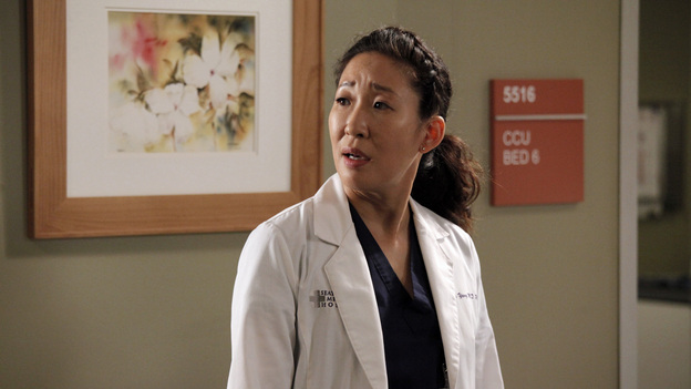 "GREY'S ANATOMY - ""I Was Made for Lovin' You"" - Cristina and Owen continue to figure out their relationship amidst the pending lawsuit; and Bailey argues with Ben over plans for their upcoming nuptials. Meanwhile, Callie recruits Jackson to help find a solution to Derek's hand, but he is preoccupied by a shocking situation with April, on ""Grey's Anatomy,"" THURSDAY, NOVEMBER 29 (9:00-10:02 p.m., ET) on the ABC Television Network. (ABC/RICHARD CARTWRIGHT)SANDRA OH"