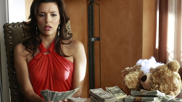 "DESPERATE HOUSEWIVES - ""Desperate Housewives"" concludes the season in fitting fashion with a dramatic two-hour Season Finale, SUNDAY, MAY 18 (9:00-11:00 p.m., ET) on the ABC Television Network. In the second hour, ""Free"" (10:00-11:00 p.m.), several residents of Wisteria Lane are faced with deadly threats. (ABC/RON TOM) EVA LONGORIA PARKER"
