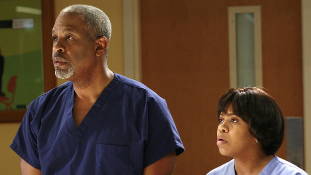 "GREY'S ANATOMY - ""The Other Side of This Life"" - Addison takes temporary leave from Seattle Grace and makes a road trip to Los Angeles in order to visit some old friends from medical school. As Meredith continues to bond with her stepmother, Susan, Cristina reluctantly plans her wedding with the assistance of her mother, Helen, and Burke's mother, Mama Jane. Meanwhile, Derek must perform  emergency surgery on Ava/Jane Doe, as Alex continues his unfailing bedside manner with her, on ""Grey's Anatomy,"" THURSDAY, MAY 3 (9:00-11:00 p.m., ET) on the ABC Television Network. (ABC/RON  TOM)JAMES PICKENS, JR., CHANDRA WILSON"