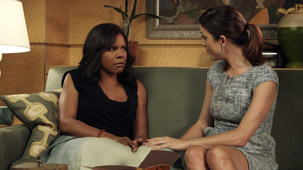 "PRIVATE PRACTICE - ""...To Change the Things I Can"" - The doctors of Oceanside Wellness are faced with a tough decision -- to point out all areas of vulnerability within the practice and risk the termination of some of their own, or to dissolve the practice and each go their separate way. Addison has a new admirer in town who offers her a very tempting proposition. Meanwhile, Charlotte is assigned to a case that hits very close to home, on the Season Finale of ""Private Practice,"" THURSDAY, MAY 19 (10:01-11:00 p.m., ET) on the ABC Television Network.  (ABC/DANNY FELD)AUDRA MCDONALD, KATE WALSH"