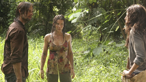 "LOST - Awarded the 2005 Emmy and 2006 Golden Globe for best drama series, and a 2007 Golden Globe nomination for best drama series and best actress for Evangeline Lilly, ""Lost"" returns for the second act of its third season of action-packed mystery and adventure -- that will continue to bring out the very best and the very worst in the people who are lost -- WEDNESDAY, FEBRUARY 7 (10:00-11:00 p.m., ET), on the ABC Television Network. In the return episode, ""Not in Portland,"" Jack is in command as the fate of Ben's life literally rests in his hands. Meanwhile, Kate and Sawyer find an ally in one of ""The Others,"" and Juliet makes a shocking decision that could endanger her standing with her people. (ABC/MARIO PEREZ)JOSH HOLLOWAY, EVANGELINE LILLY, TANIA RAYMONDE"