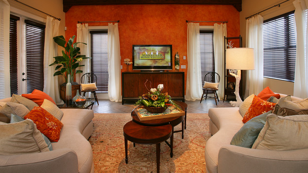"EXTREME MAKEOVER HOME EDITION - ""Tate Family,"" -  Living Room, on ""Extreme Makeover Home Edition,"" Sunday, March 4th on the ABC Television Network."