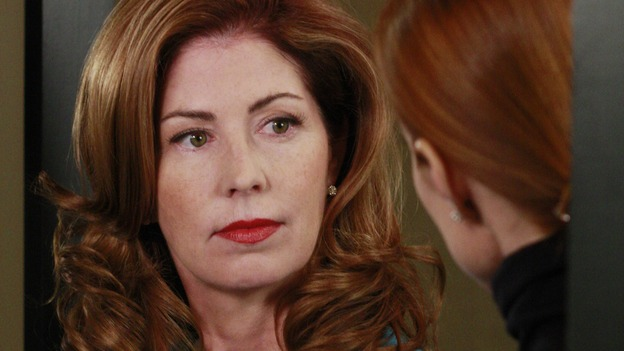 "DESPERATE HOUSEWIVES - ""The Gun Song"" - Katherine and Bree bond over target practice, on Desperate Housewives,"" SUNDAY, MAY 18 (9:00-10:00 p.m., ET) on the ABC Television Network. (ABC/RON TOM) DANA DELANY, MARCIA CROSS"